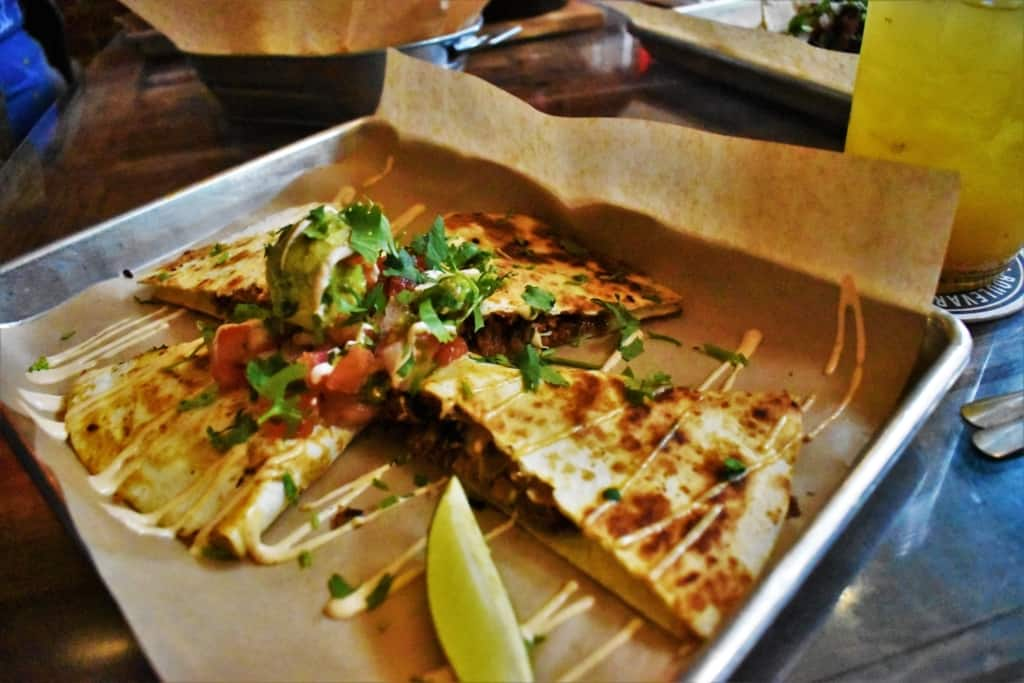 A quesadilla is a good option for a sharable dish during Taco Anyday.