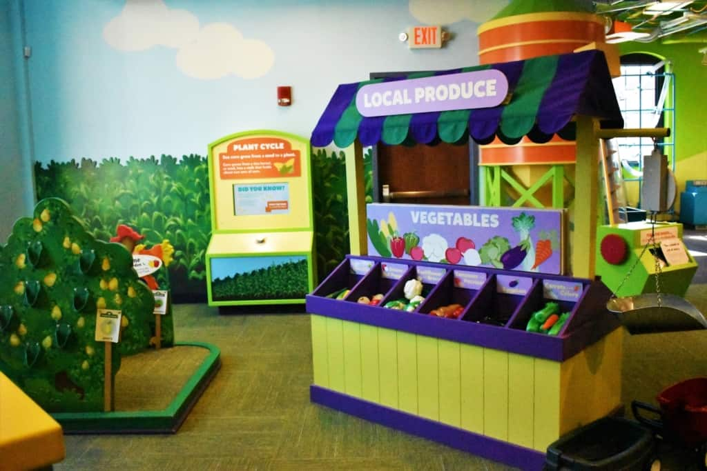 Thefarm portion of Kidzeum shows how food is produced and sold, which offers people a way to get healthy.