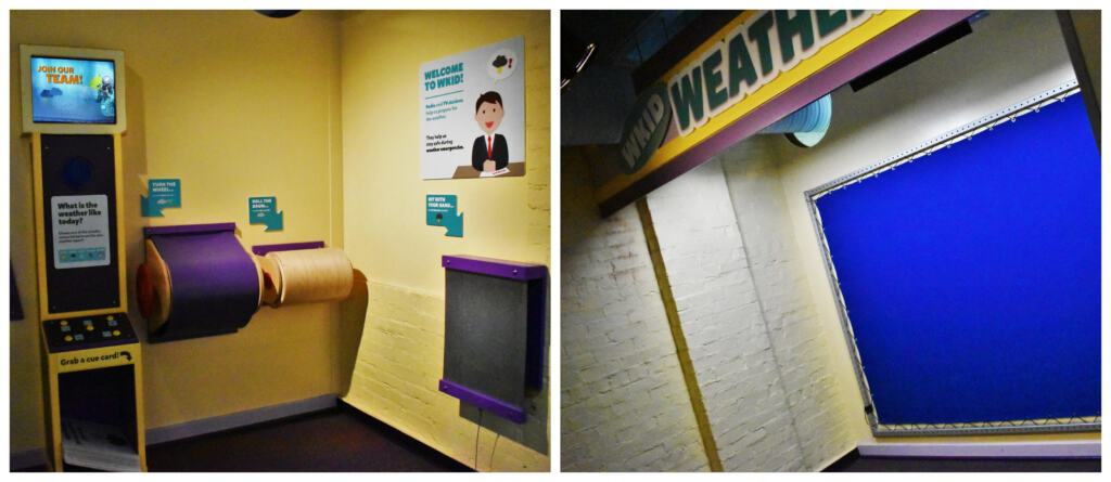 Kids can pretend to be a local weather reporter as they update the forecast.