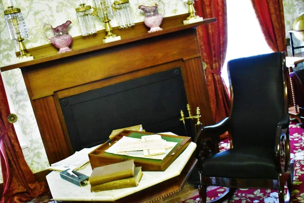 As you explore the Lincoln home you will have a chance to see the room where Lincoln studied.