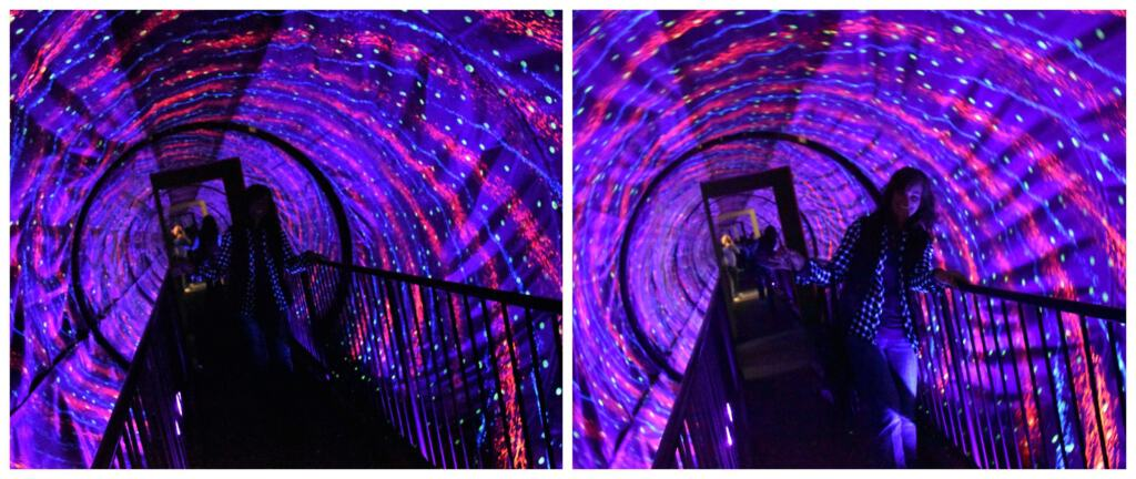 The vortex Tunnel throws visitors for a loop.