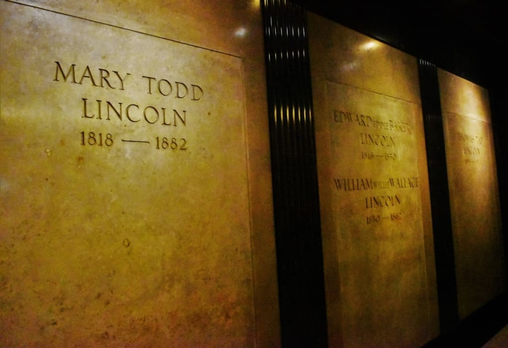 The crypts of Mary and three of the Lincoln boys are also included in Lincoln's Tomb.