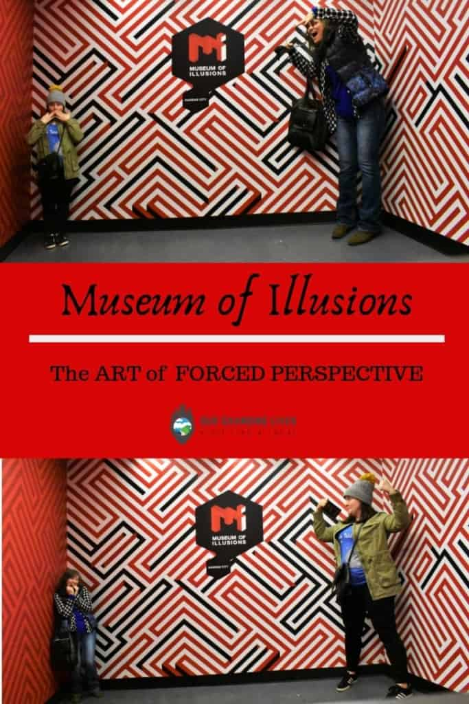 The art of forced perspective-Museum of Illusions KC-optical illusions-Union Station-Kansas City