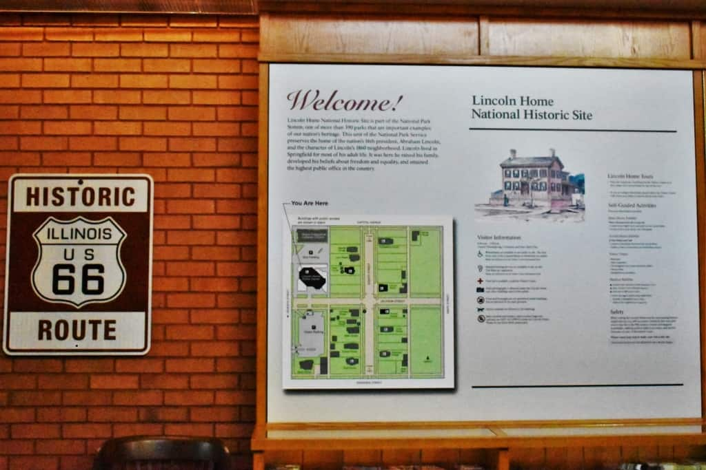A stop at the visitors center is a good way to start your visit at the Lincoln Home Historic Site.