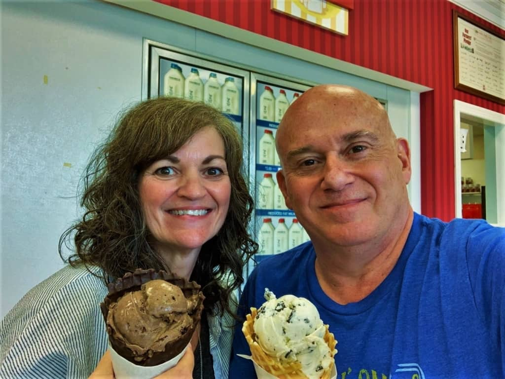 The authors made sure to test our the tasty treats at Oberweis Dairy on multiple visits.