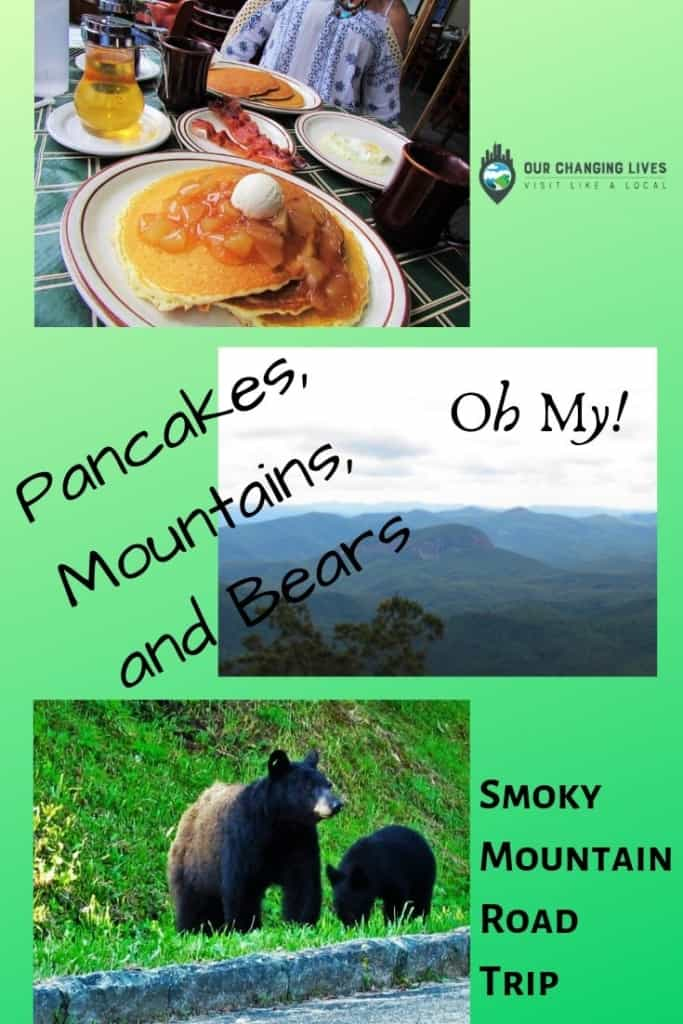 Smoky Mountain road Trip-pancakes-mountains-bears-miniature golf-dining-Blue Ridge Parkway-Asheville