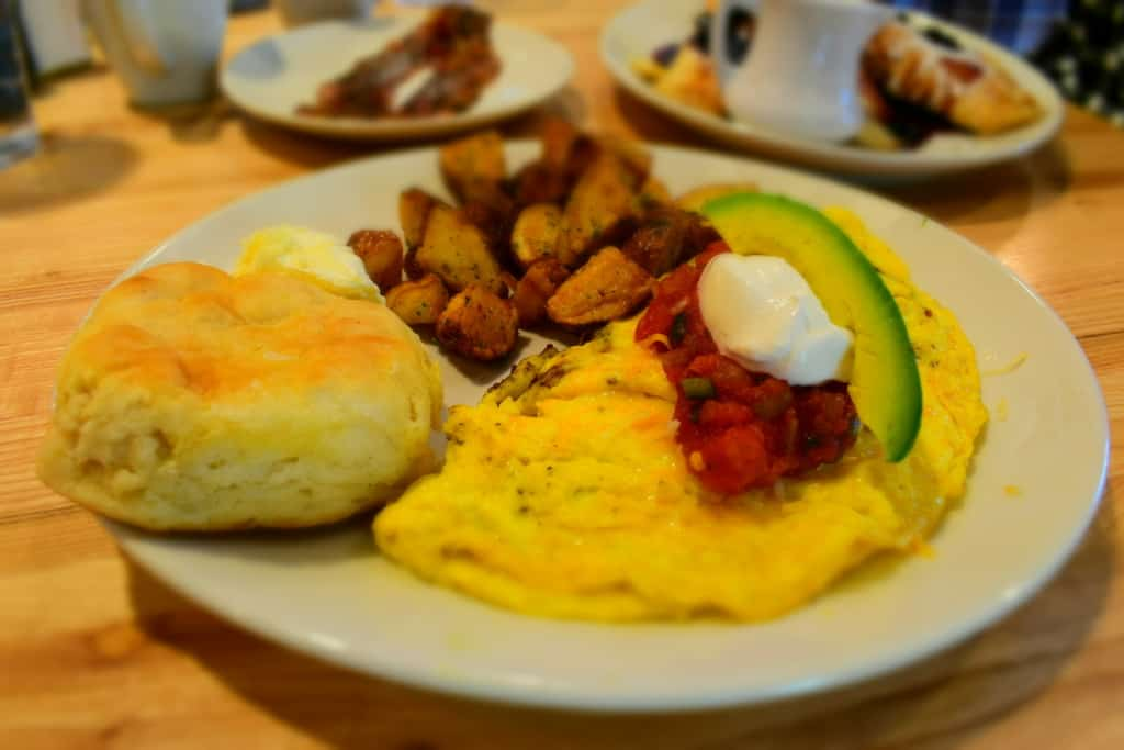 West Coast Omelette is packed with interesting flavors that reminded me of dining in the southwest.