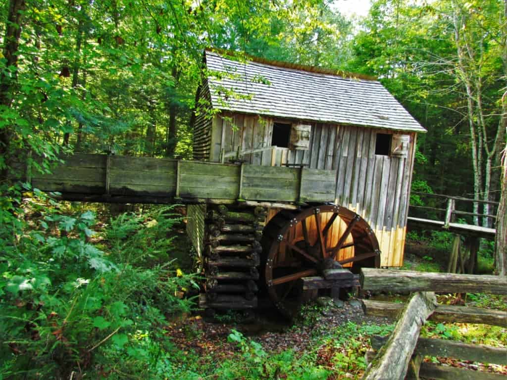 An old grist mill was one of the historic structures available to explore in Cades cove.