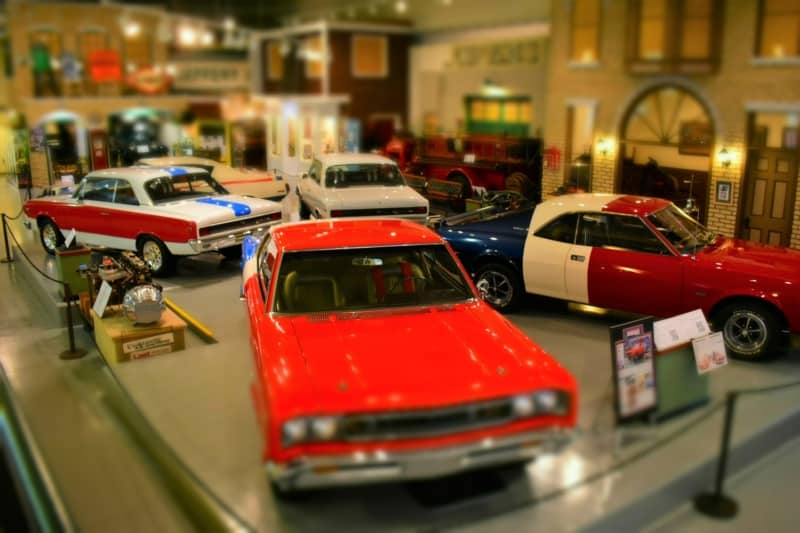 An Assortment of AMC muscle cars is sure to turn heads of visitors to Kenosha History Center.