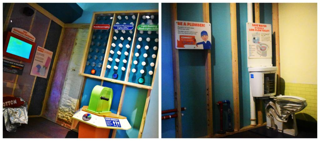 The construction house at Kidzeum shows kids the inner workings to visitors.