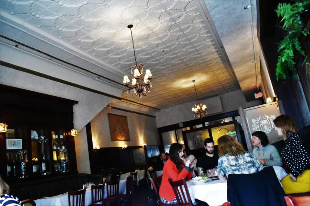 Diners enjoy a meal in this 135 year old Springfield restaurant.