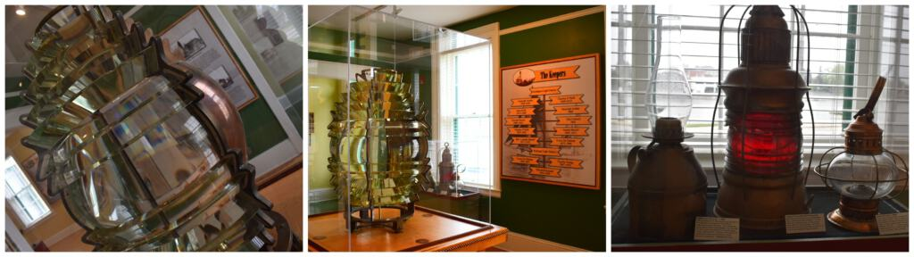 The museum holds lots of artifacts associated with lighthouses.