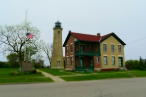 The Southport Light Station is a historic site in Kenosha, Wisconsin.
