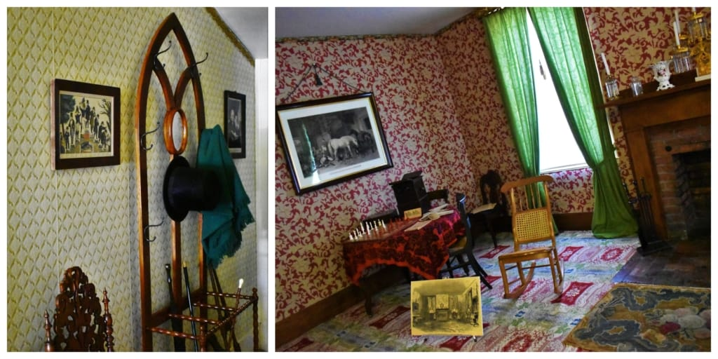 When you enter the Lincoln home, you will be greeted by his iconic stovepipe hat.