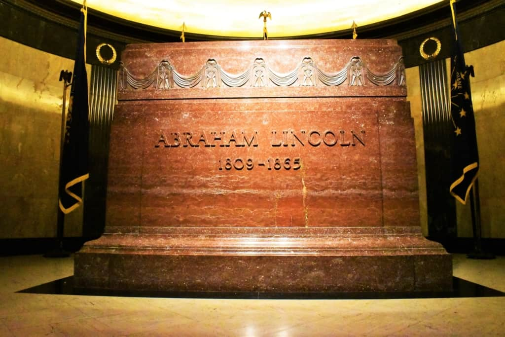 The crypt inside of Lincoln's Tomb is a granite masterpiece.