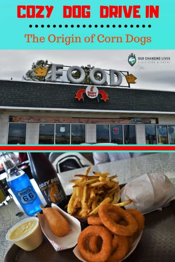 Cozy Dog Drive In-The origin of corn dogs-Springfield, Illinois-Routs 66-Mother Road-Amarillo-Cozy Dogs-restaurants