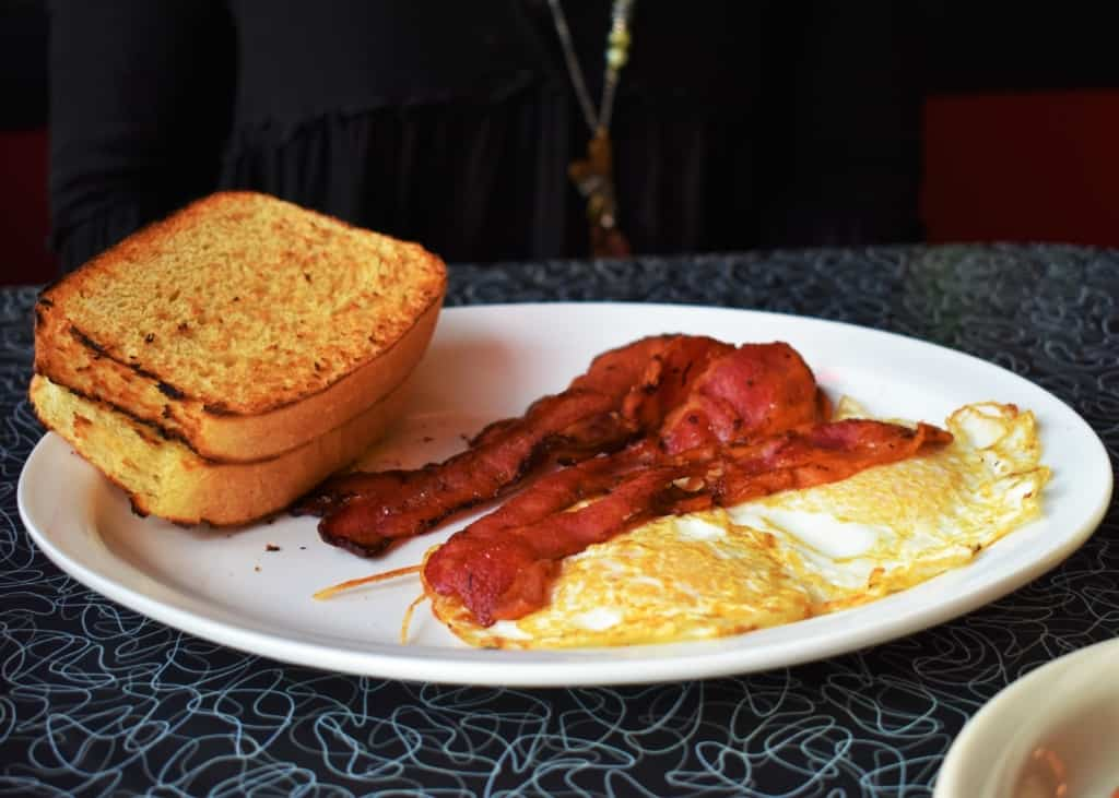 A hearty breakfast is the perfect way to dine old school before heading out on the road.