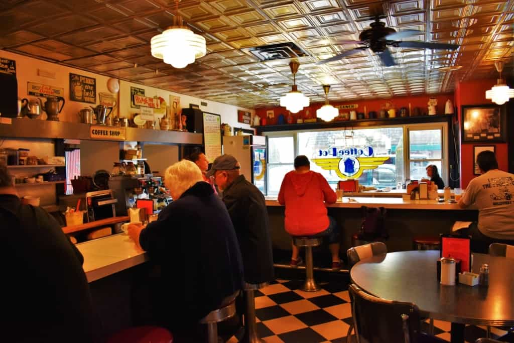 The locals enjoy dining old school at The Coffee Pot in Kenosha, Wisconsin.