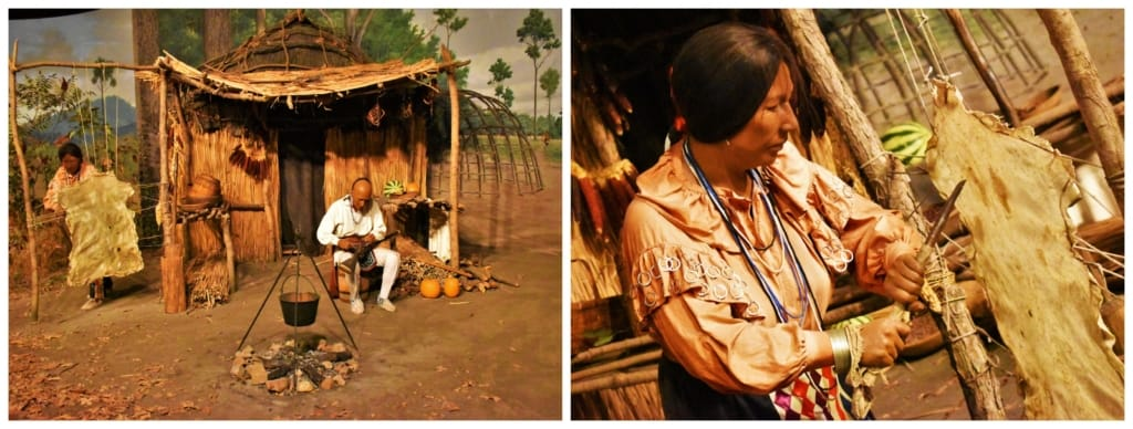 One of the dioramas at the Illinois State Museum showcases the agricultural lifestyle of early human inhabitants.