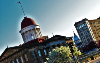 Springfield, illinois is the first capital city that has two domes visible at the same time.