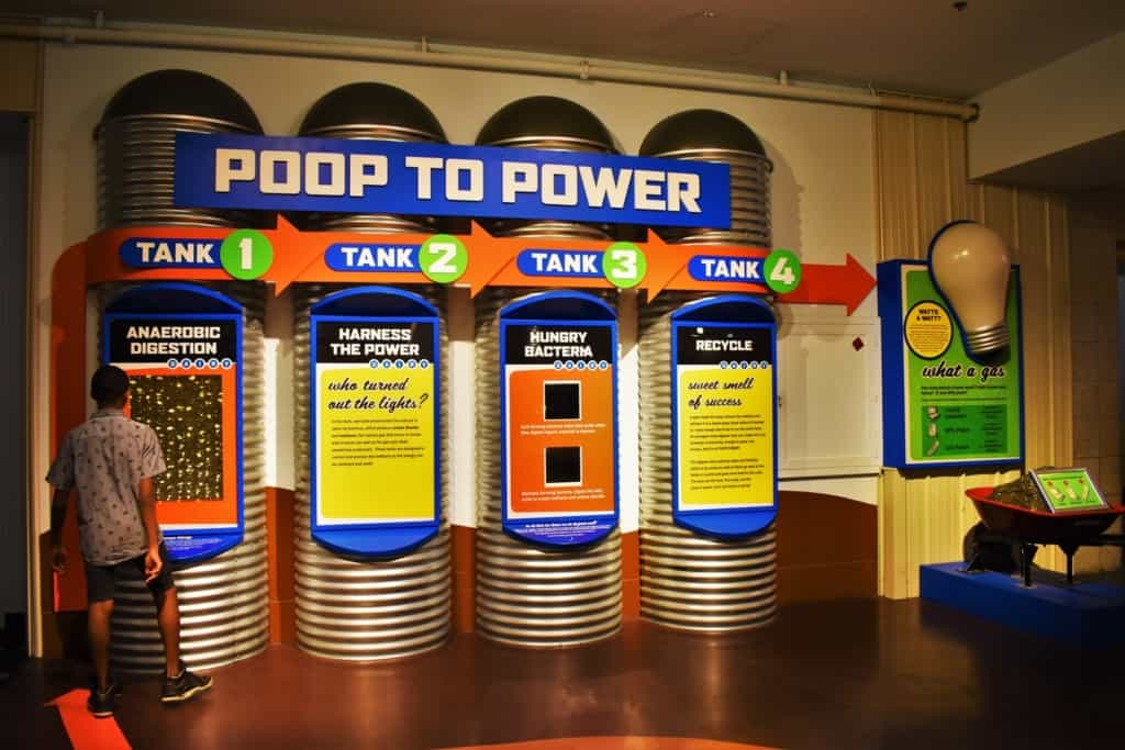Some of the exhibits were as entertaining as they are educational, like the poop to Power display on creating energy from cow manure.