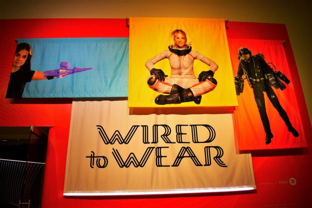The Wired to Wear exhibit showcases how technology is being incorporated into the very fabric of the apparel we wear.