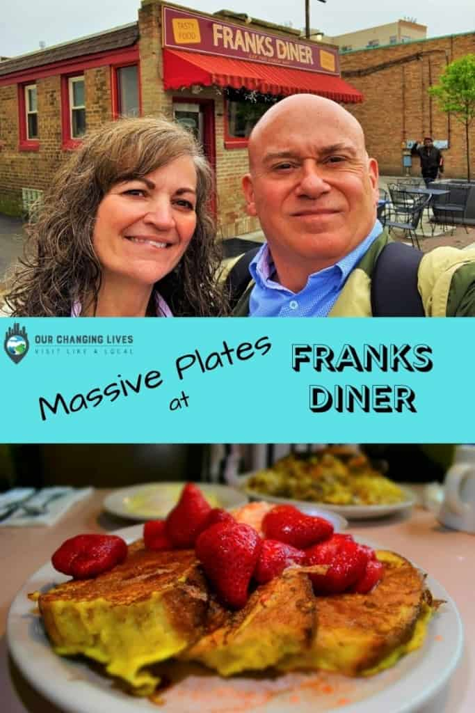 Massive PLates at Franks' Diner-Kenosha, Wisconsin-historic diner-breakfast-Garbage Plate-French Toast-travel-midwest dining