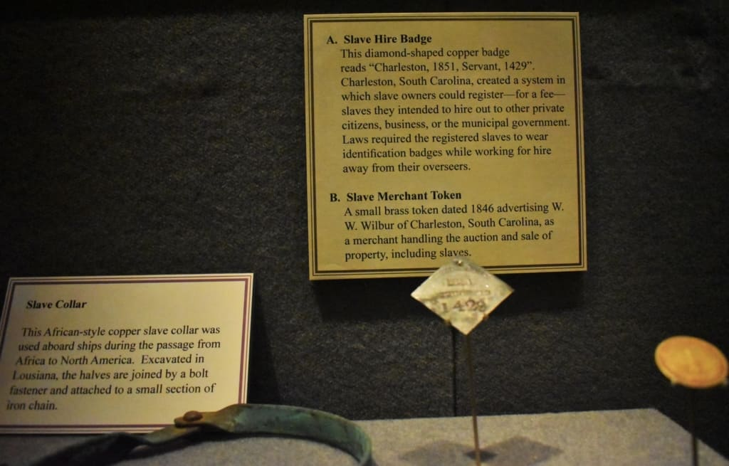 Artifacts at the Civil War Museum in Kenosha paint a picture of the life of slaves during that period.