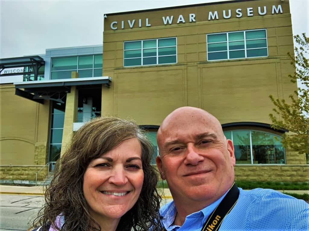 The authors enjoyed their visit to the Civil War Museum in Kenosha, Wisconsin.