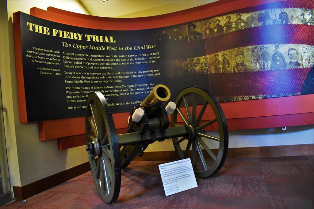 The entrance to the Civil War Museum in Kenosha tells the story of the war participants from the Upper Midwest.