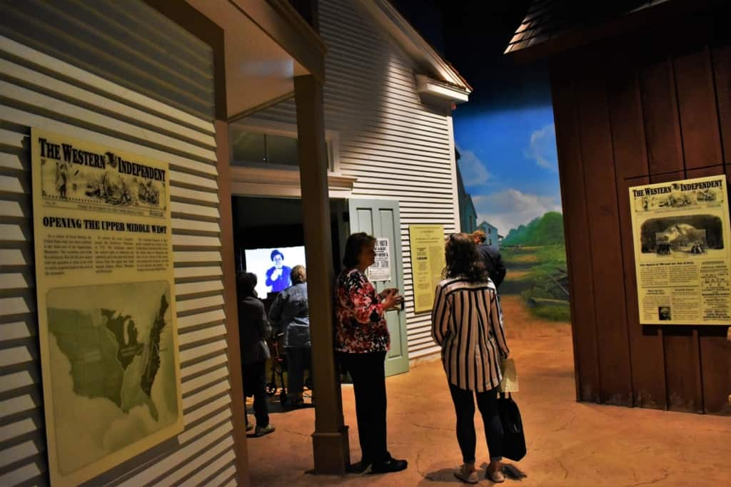 Information exhibits show what life was like leading up to the start of the Civil War.