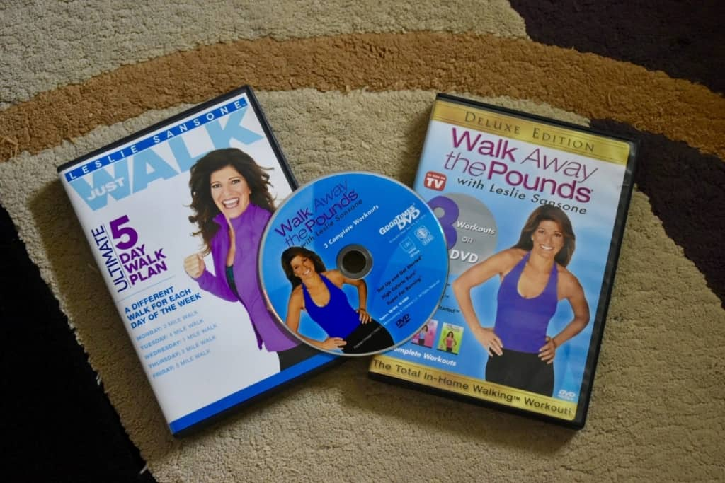 "I use the Leslie Sansone ""Walk Away The Pounds"" videos to help me stay on track."