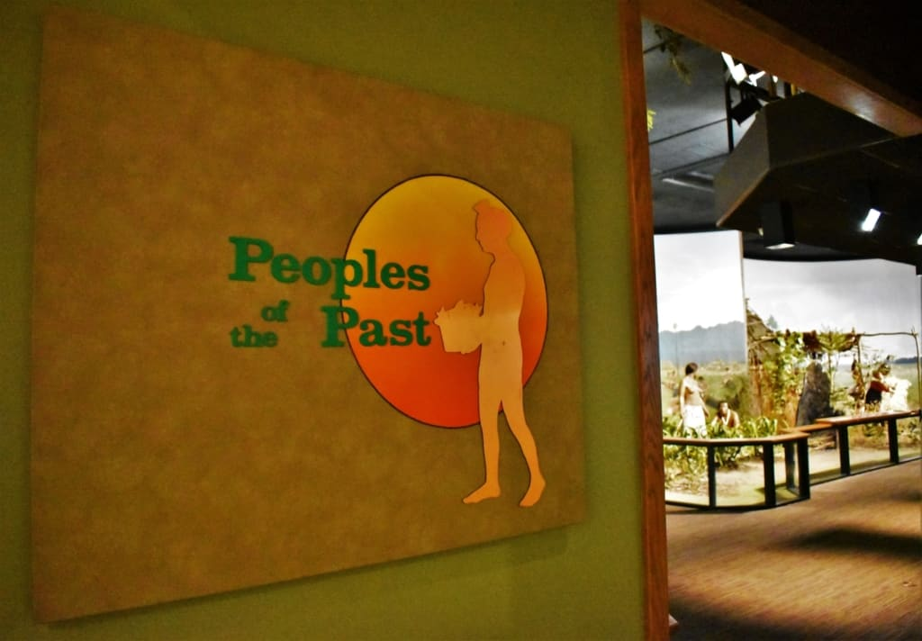 Peoples of the Past is an exhibit designed to highlight the Native Indian Tribes that once occupied the region.