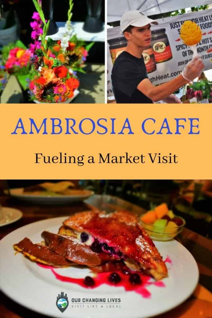 Ambrosia cafe-Fueling a market visit-downtown Overland Park farmers market-breakfast-dining-restaurant-french toast