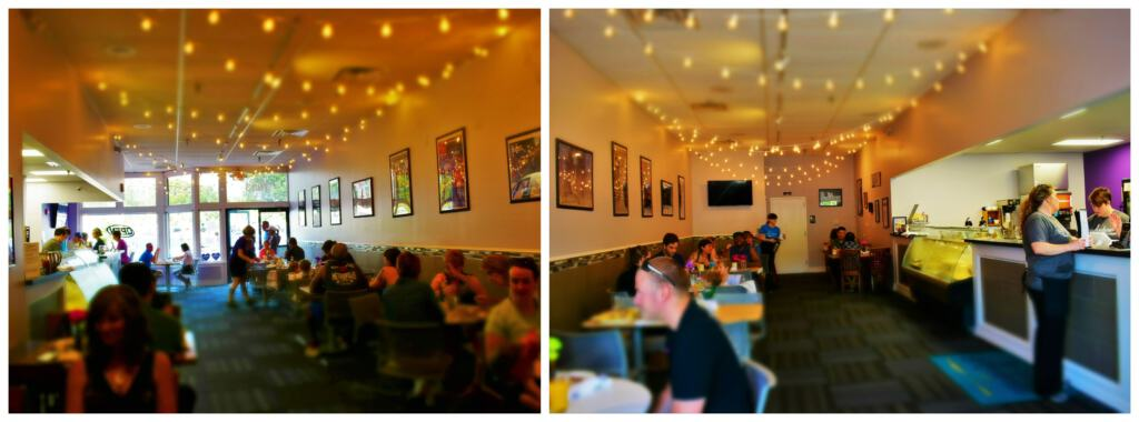 Even though it was busy, service at Ambrosia Cafe was stellar.