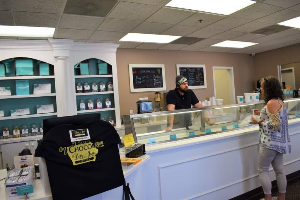Crystal chats with Andrew Siegert, the president of Betty Jane Candies.