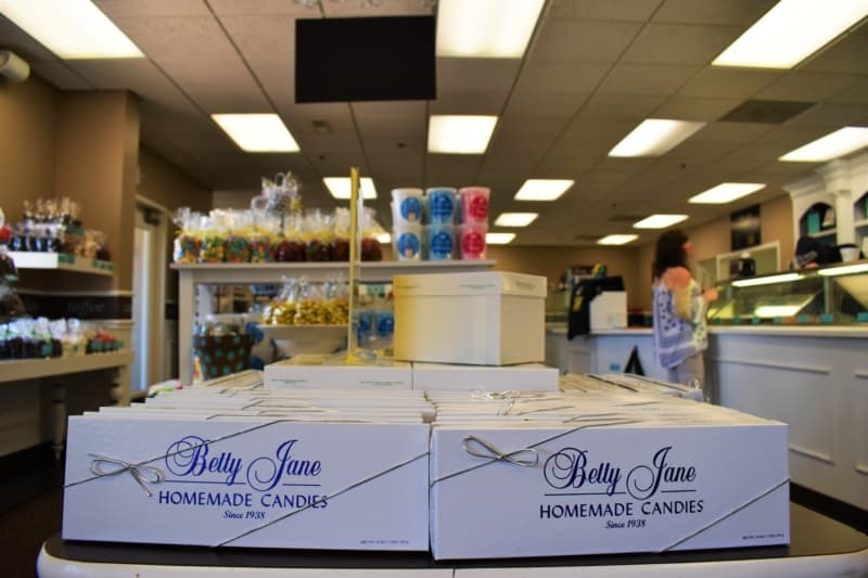 Stepping through the door, we could smell the sweet success at Betty Jane Candies.