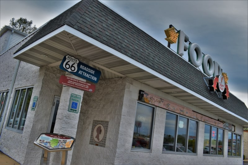 Cozy Dog Drive In is an iconic historic dining option in Springfield, Illinois.