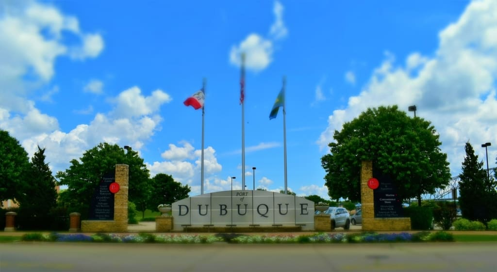 The Port of Dubuque is located near the Mississippi River.