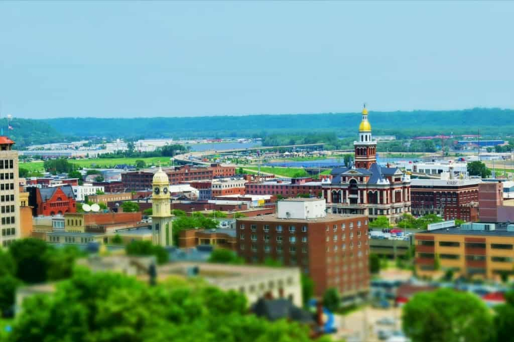 Once we arrived at the top, we had amazing views of downtown Dubuque and beyond.