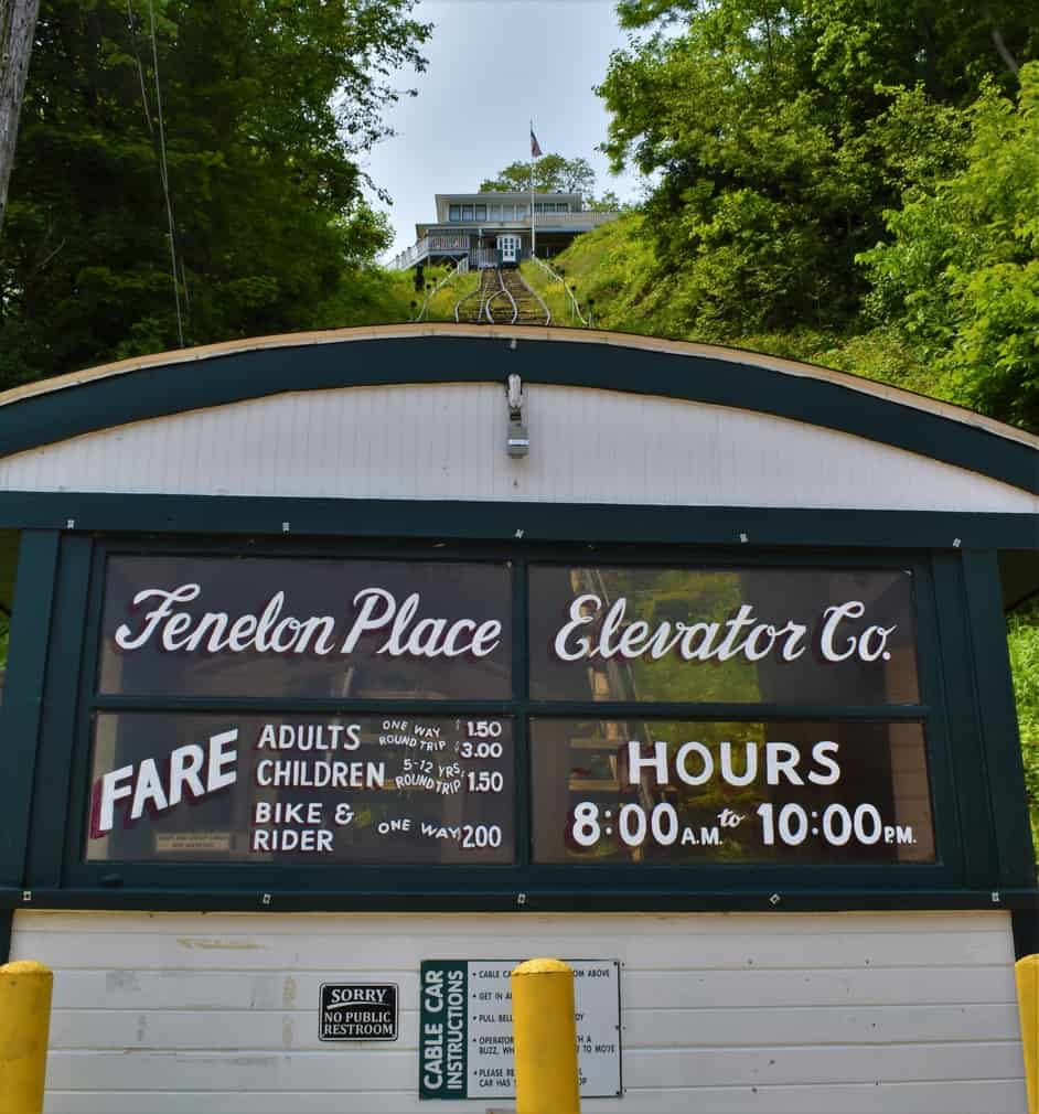 Prices to ride the Fenelon Place Elevator are very affordable for all ages.
