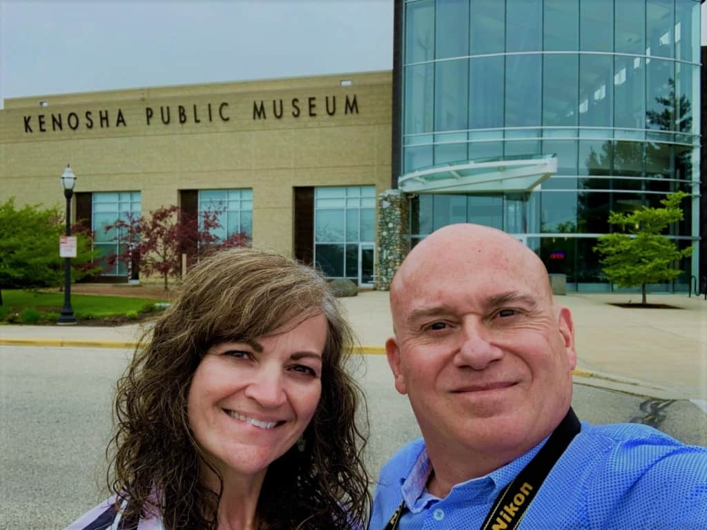 The authors stop for a selfie at the Kenosha Public Museum.