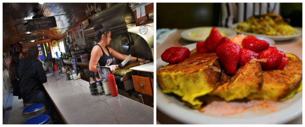 The portions are huge at Frank's Diner, so be sure to come hungry.