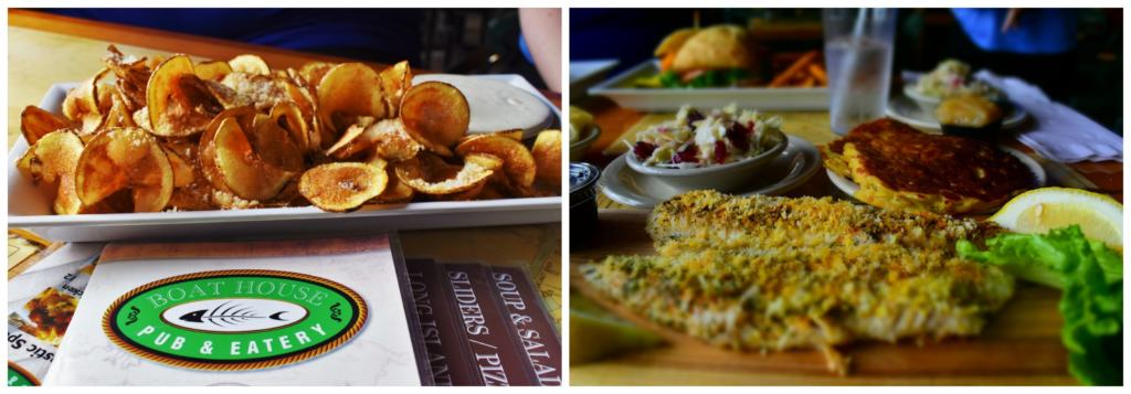 We had an opportunity to dine with our hosts at the Boat House Pub & Eatery.