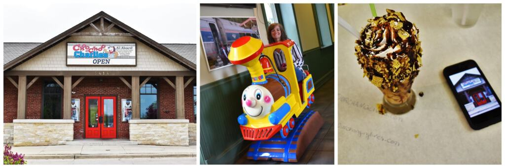 It's easy to feel like a kid when you visit Choo-Choo Charlie's for a train themed meal.