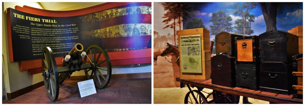 The Civil War Museum highlights the contributions by he Upper Midwest states during the war between the states.