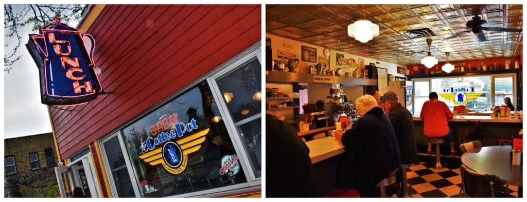 It's easy to see that The Coffee Pot is a local haunt, just by looking at the other diners.