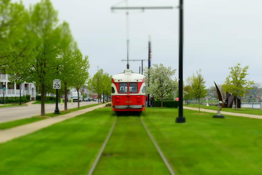 The refurbished streetcars help visitors escape to Kenosha in fashion.