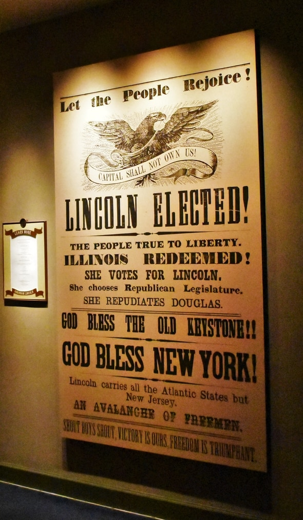 An announcement of Lincoln's election victory was another reason that the southern states seceded.
