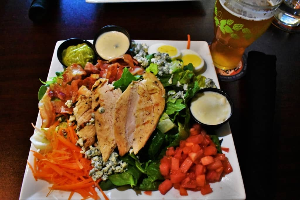 The Chef's Salad, at Obed & Isaac's Microbrewery, is an unexpected treat for those who order it.